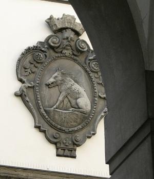 Scrofa semilanuta - Milano cortile Palazzo Marino - phGiovanni Dall'Orto