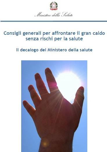 Caldo - Consigli dal Ministero della Salute