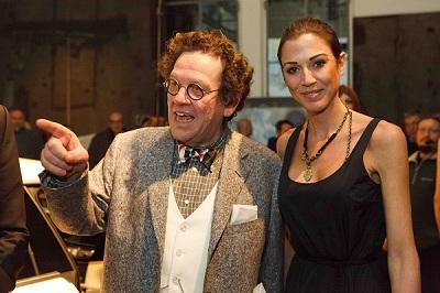 Philippe Daverio e Federica Torti