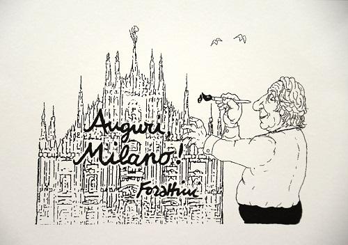 Giorgrio Forattini per Milano 24orenews - Natale 2013