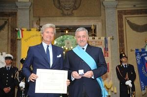 Claudio Luti Presidente Kartell e Guido Podesta Pres. Provincia di Milano