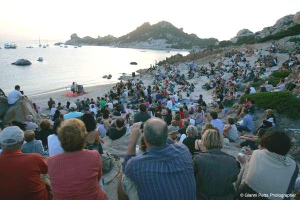 Il concerto del 2012 sull'isola di Spargi