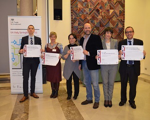The six winners of the UK-Italy Springboard entrepreneurial challenge hi res