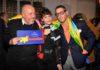 Elio Fiorucci con Lidia Bosch e Lapo Elkann