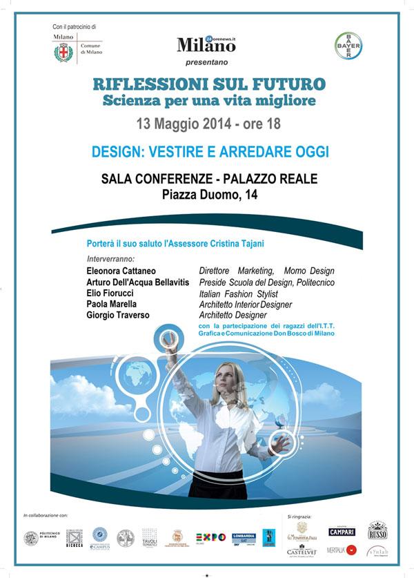 Locandina Riflessioni sul Futuro DESIGN - 13 maggio 2014