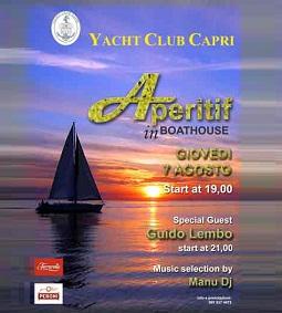 yacht Capri club aperitif