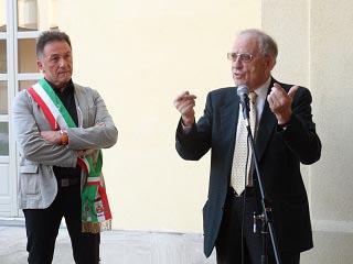 Il dott. Amos Nannini, Presidente Società Umanitaria e il Sindaco di Vailate Paolo Palladini