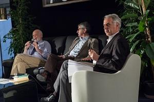Giancarlo Provasi, Gianni Rocco presidente Associazione Impronta, Carlo Benedetti e Riccardo Venchiarutti