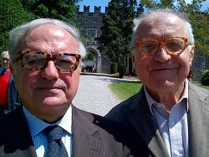 Achille Colombo Clerici con Alberico Barbiano di Belgiojoso