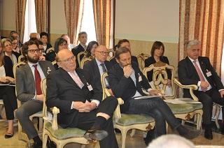 Una veduta della sala e in prima fila Ernesto Pellegrini