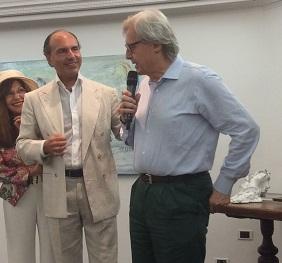 Vittorio Sgarbi a Capri - Mostra Silvana Galeone 2