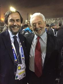 Riccardo Garosci con Vicente Gonzales Loscertales