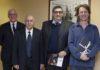 da sinistra Agostino Migone De Amicis - Alberto Guglielmo - Mantegazza Renato con il M Albrecht - ph. Ambra Zeni