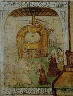Conversano BA affresco esistente  nella chiesa Santa Maria dellIsola