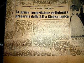 1961- ritaglio de Il Messaggero di 55 anni fa