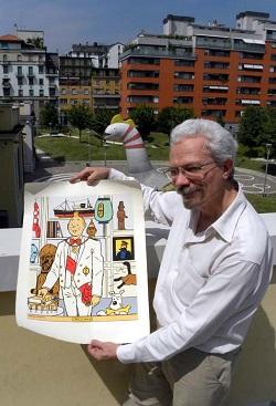 Luigi Bona direttore di WOW Spazio Fumetto con Tintin