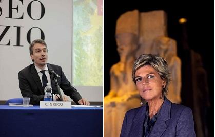 Museo Egizio il Direttore Christian Greco e il Presidente Evelina Christillin