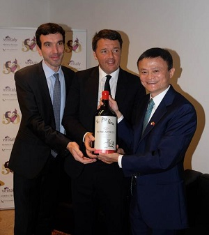 Vinitaly 2016 Maurizio Martina Matteo Renzi e Jack Ma Foto Ennevi 24