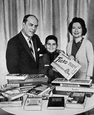 John Scarne con la moglie e il figlio