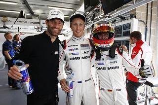 Porsche Team - Mark Webber Brendon Hartley Timo Bernhard l-r