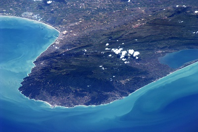 Gargano visto dalla Stazione Spaziale internazionale