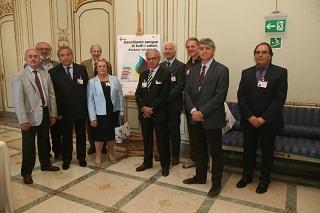 9 presidenti delle 9 associazioni di donatori di sangue del Comune di Milano con anche il dott.  Dott. Sergio Casartelli, componente Tavolo Sangue del Comune di Milano