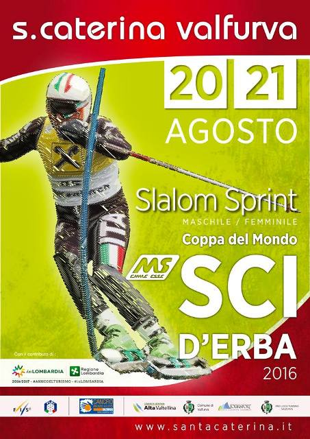 Locandina Coppa del Mondo sci derba Santa Caterina Valfurva