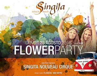SINGITA-FREGENE 25 agosto 2016 - FLOWER-PARTY