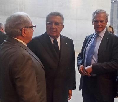 da destra Roberto Jarach Carlo De Benedetti Achille Colombo Clerici - lugano 10 ottobre 2016