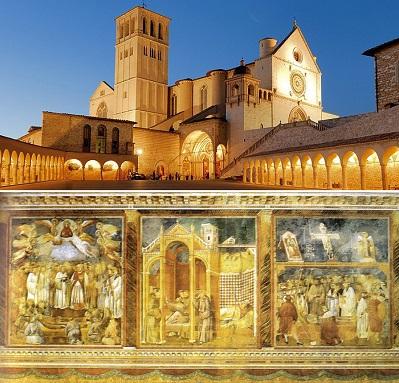 Basilica Superiore di San Francesco d'Assisi - Giotto, 3 scene dagli afferschi