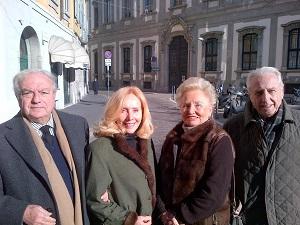 Amici dell'Engadina, Emanuela e Antonio Soldati (Corriere del Ticino) con Giovanna e Achille Colombo Clerici