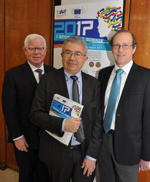 da sinistra: Dott. Alberto Pieri - segretario generale della FAST, Ing. Roberto Cusolito - Presidente Fast, Dott. Andrea Mairani XYLEM r
