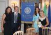 Il neoPresidente del Rotary Monforte Mario Carretta con la moglie, Susanna Messaggio ed Evelina Flachi
