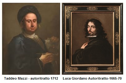 Taddeo Mazzi - autoritratto 1712 Luca Giordano Autoritratto - 1665-70