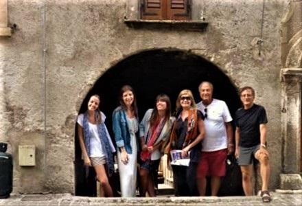 Alberto Alberici e famiglia a Popoli