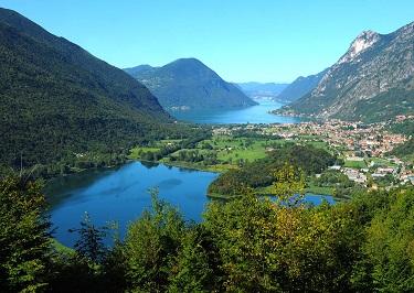 Veduta del piccolo Lago del Piano e quello di Lugano b ph Lucio Elio