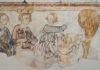 Carlo Magno a caccia nella foresta con alcuni vassalli