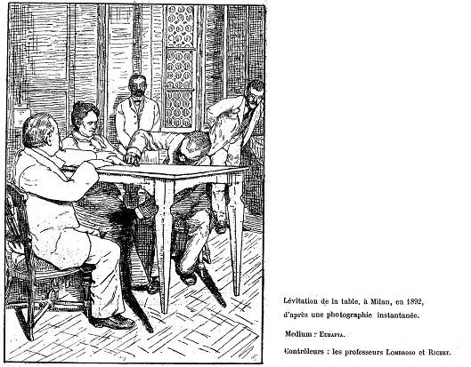 Illustrazione raffigurante una delle sedute svoltesi a Milano nel 1892