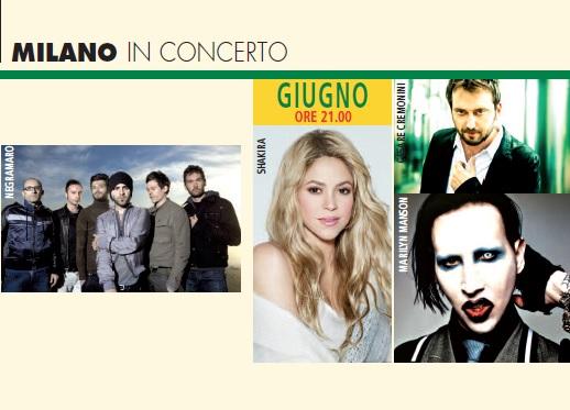 Milano concerti giugno 2018