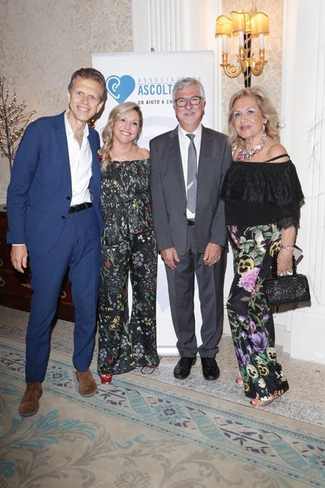 L'Ing. Luca Del Bo - fondatore - con la Presidente AEVO Loredana Vergani, il Prof. Danilo Buschi e Paola Neri - madrina AEVO