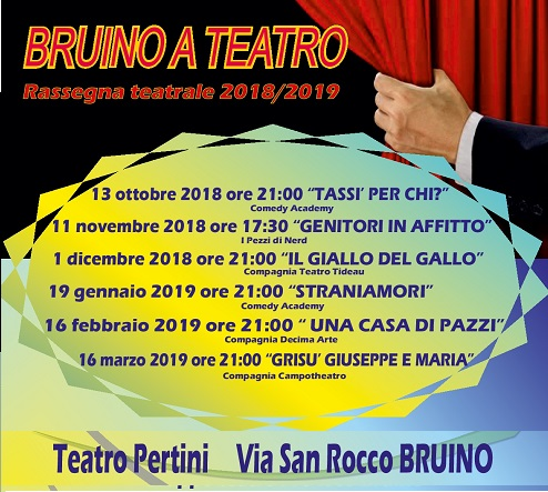 manifesto Bruino a teatro