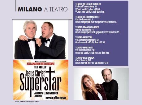 Milano a teatro novembre 2018