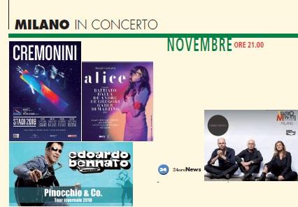 Milano in musica concerti novembre 2018