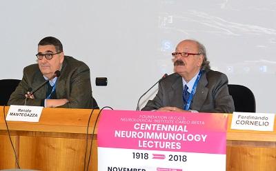 Prof. Ferdinando Cornelio dott. Renato Mantegazza Presidente A.I.M. r