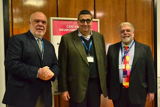 da sinistra a destra prof. J.Oksenberg Usa dott. Renato Mantegazza Direttore A.I.M. prof. J.F.Howard USA r