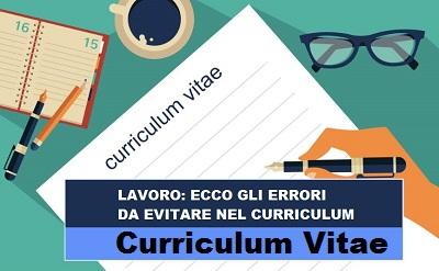 lavoro - curriculum - errori da evitare