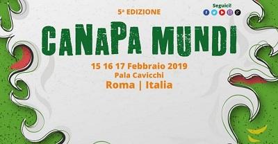 Roma Canapa mundi - fiera internazionale della canapa 2019