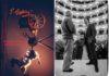 Il regista Luca Ronconi il direttore Claudio Abbado e la scenografa e costumista Gae Aulenti durante le prove -Teatro Comunale di Ferrara febbraio 1992 r