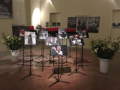 Il viaggio a Reims - Veduta di allestimento della mostra presso il Museo internazionale e biblioteca della musica Bologna 2019