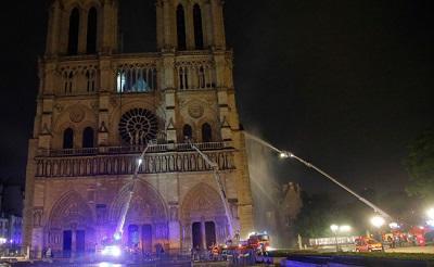 Incendio Notre Dame - 15 aprile 2019